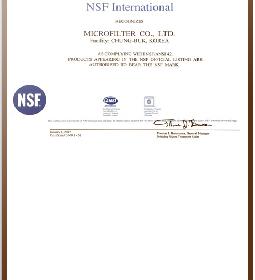 NSF MICROFILTER 2