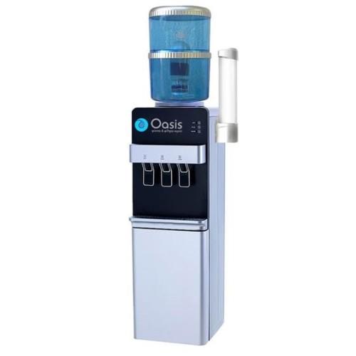 Ψύκτης Νερού Φιάλης για Νερό Βρύσης με Φίλτρο | Oasis Silver Black - 30SB-FF