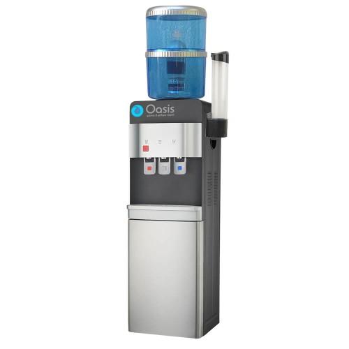 Ψύκτης Νερού Φιάλης με Συμπιεστή για Νερό Βρύσης με Φίλτρο | OASIS Deluxe Black 37LB-FF